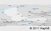 Silver Style Panoramic Map of Alma-Ata