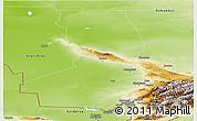 Physical Panoramic Map of Chimkent