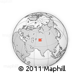 Outline Map of Dzhambul