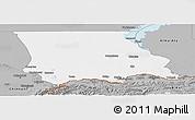 Gray Panoramic Map of Dzhambul