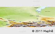 Physical Panoramic Map of Dzhambul
