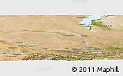 Satellite Panoramic Map of Dzhambul