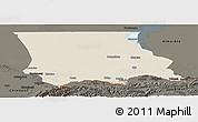 Shaded Relief Panoramic Map of Dzhambul, darken
