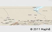 Shaded Relief Panoramic Map of Dzhambul
