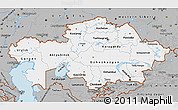 Gray Map of Kazakhstan
