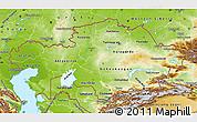 Physical Map of Kazakhstan