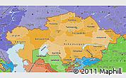 Political Shades Map of Kazakhstan