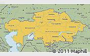 Savanna Style Map of Kazakhstan
