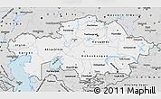 Silver Style Map of Kazakhstan