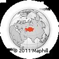 Outline Map of Kazakhstan