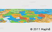 Political Panoramic Map of Kazakhstan