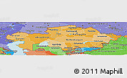 Political Shades Panoramic Map of Kazakhstan