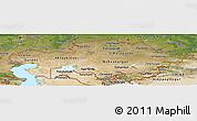Satellite Panoramic Map of Kazakhstan
