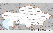 Gray Simple Map of Kazakhstan