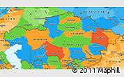 Political Simple Map of Kazakhstan