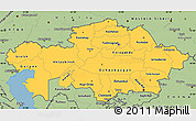 Savanna Style Simple Map of Kazakhstan