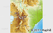 Physical 3D Map of Kenya