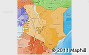 Political Shades 3D Map of Kenya