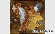 Physical 3D Map of CENTRAL, darken