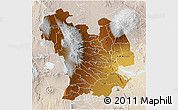 Physical 3D Map of CENTRAL, lighten
