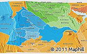 Political Shades 3D Map of KIAMBU