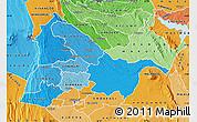 Political Shades Map of KIAMBU