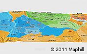 Political Shades Panoramic Map of KIAMBU