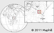 Blank Location Map of TAVETA