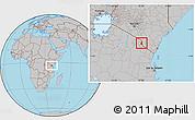 Gray Location Map of TAVETA