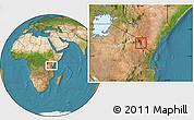 Satellite Location Map of TAVETA