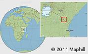 Savanna Style Location Map of TAVETA