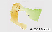 Physical 3D Map of TSAVO E&W N. PARK, cropped outside