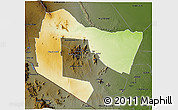 Physical 3D Map of TSAVO E&W N. PARK, darken