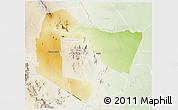 Physical 3D Map of TSAVO E&W N. PARK, lighten