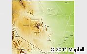 Physical 3D Map of TSAVO E&W N. PARK