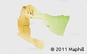 Physical 3D Map of TSAVO E&W N. PARK, single color outside