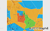 Political 3D Map of TSAVO E&W N. PARK