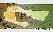 Physical Panoramic Map of TSAVO E&W N. PARK, darken