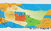 Physical Panoramic Map of TSAVO E&W N. PARK, political outside