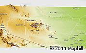 Physical Panoramic Map of TSAVO E&W N. PARK