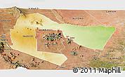 Physical Panoramic Map of TSAVO E&W N. PARK, satellite outside