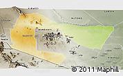 Physical Panoramic Map of TSAVO E&W N. PARK, semi-desaturated