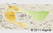 Physical Panoramic Map of TSAVO E&W N. PARK, shaded relief outside