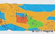 Political Panoramic Map of TSAVO E&W N. PARK