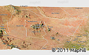 Satellite Panoramic Map of TSAVO E&W N. PARK