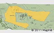 Savanna Style Panoramic Map of TSAVO E&W N. PARK