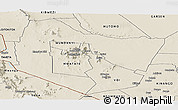 Shaded Relief Panoramic Map of TSAVO E&W N. PARK