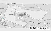 Silver Style Panoramic Map of TSAVO E&W N. PARK