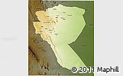 Physical 3D Map of MUTOMO, darken