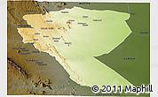 Physical Panoramic Map of MUTOMO, darken